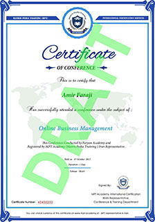 IQS Academy certificate